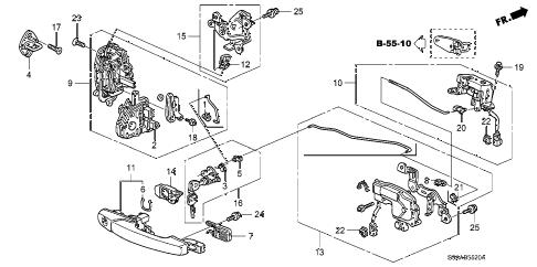 Honda online store : 2006 crv tailgate lock parts