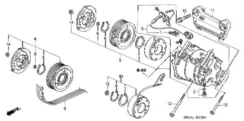 Honda online store : 2006 crv compressor parts