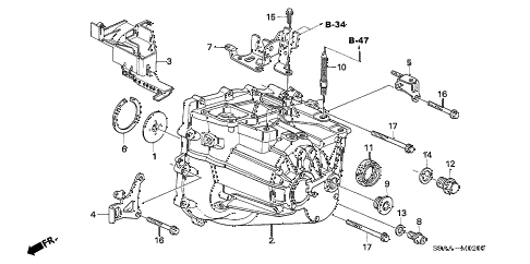 Honda online store : 2006 crv transmission case parts