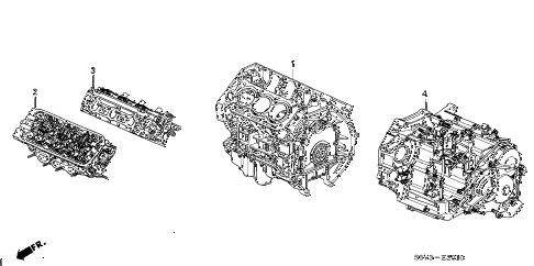 Honda online store : 2006 pilot engine assy