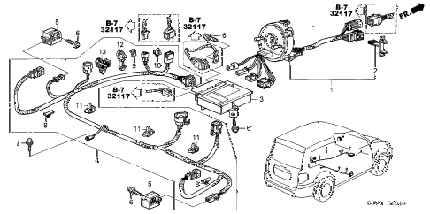 Honda online store : 2004 pilot srs unit (-'04) parts