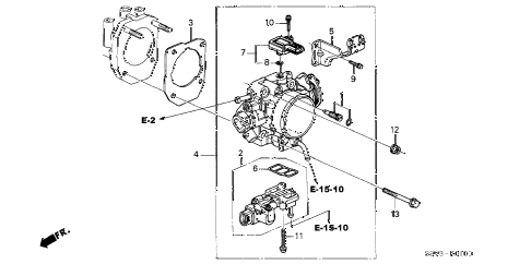 Honda online store : 2003 pilot throttle body (-'04) parts