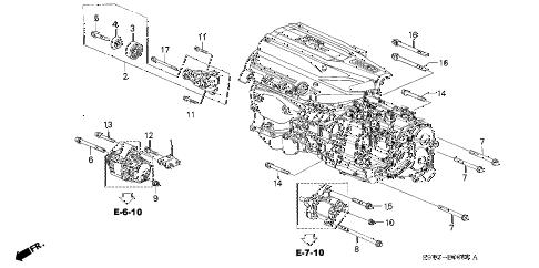 Honda online store : 2003 pilot alternator bracket (-'04