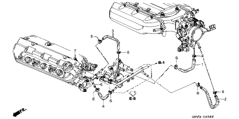 Honda online store : 2004 pilot water hose (-'04) parts