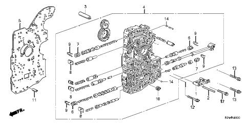 Honda online store : 2003 pilot at main valve body (-'05