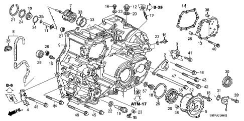 Honda online store : 2006 pilot at transmission case ('06