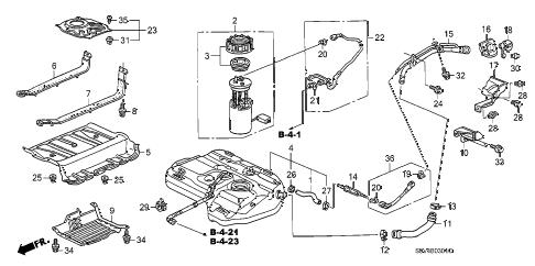 Honda online store : 2006 pilot fuel tank (2) parts
