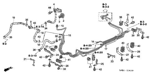 Honda online store : 2004 pilot fuel pipe (1) parts