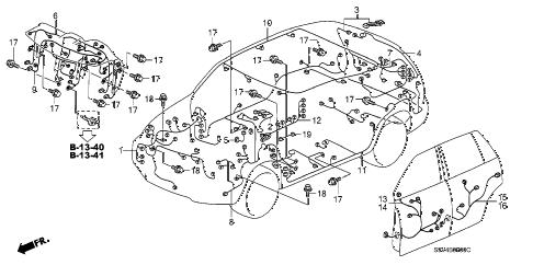 Honda online store : 2007 pilot wire harness parts