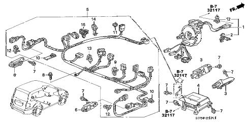 Honda online store : 2005 pilot srs unit ('05) parts