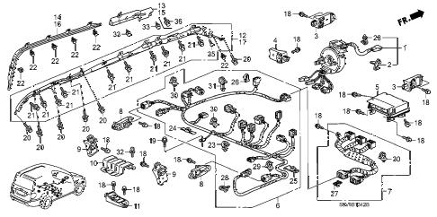Honda online store : 2006 pilot srs unit ('06-) parts
