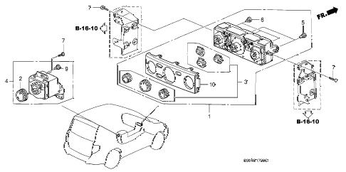 Honda online store : 2005 pilot heater control (manual) parts