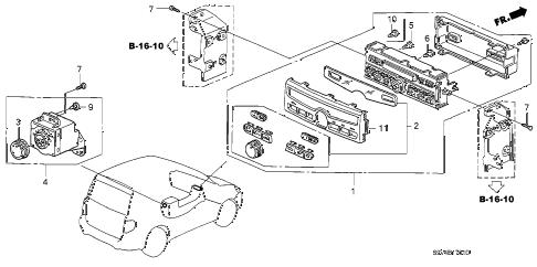 Honda online store : 2007 pilot heater control (auto) parts
