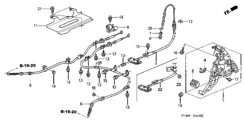 Honda online store : 2005 pilot parking brake parts
