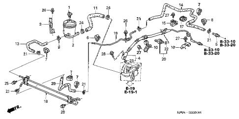 Honda online store : 2003 pilot p.s. lines (4wd) parts