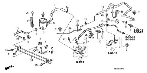 Honda online store : 2007 pilot p.s. lines (2wd) parts