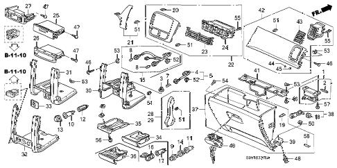 Honda online store : 2006 pilot instrument panel garnish
