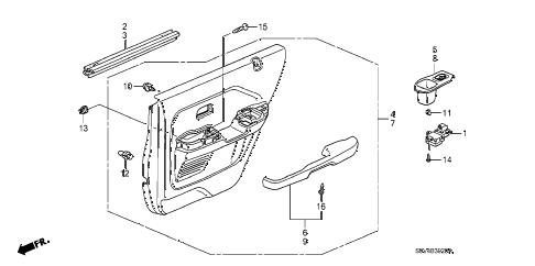 Honda online store : 2007 pilot rear door lining parts