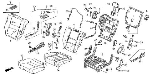 Honda online store : 2007 pilot middle seat (r.) parts