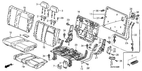 Honda online store : 2007 pilot rear seat (l.) parts