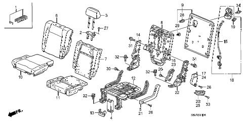 Honda online store : 2006 pilot rear seat (r.) parts