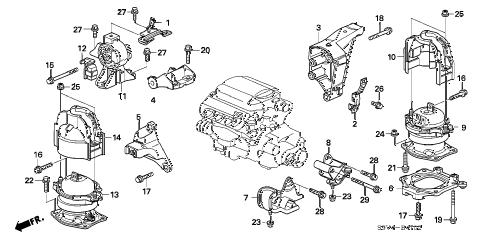 Honda online store : 2006 pilot engine mounts ('06-) (2wd