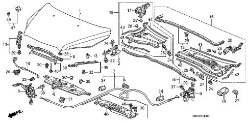 Honda online store : 2007 pilot hood parts