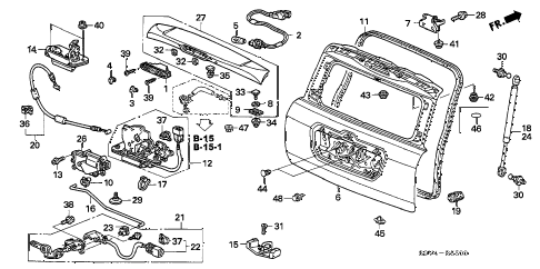 Honda online store : 2004 pilot tailgate parts