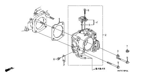 Honda online store : 2006 pilot throttle body ('05-) parts