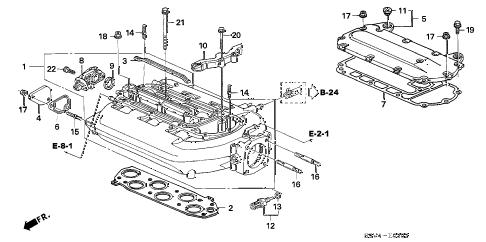 Honda online store : 2006 pilot intake manifold ('06