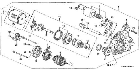 Honda online store : 2007 pilot starter motor (mitsubishi