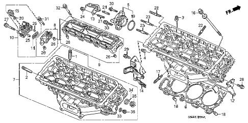 Honda online store : 2007 pilot rear cylinder head ('06