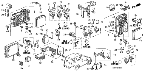 Honda online store : 2008 pilot control unit (cabin) parts
