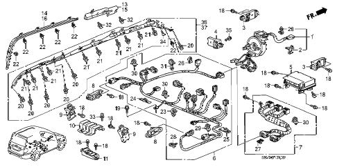 Honda online store : 2008 pilot srs unit parts
