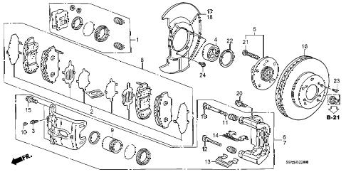 Honda online store : 2008 pilot front brake parts
