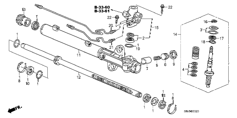 Honda online store : 2008 pilot p.s. gear box components parts
