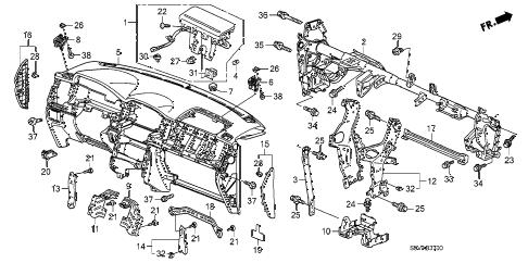 Honda online store : 2008 pilot instrument panel parts