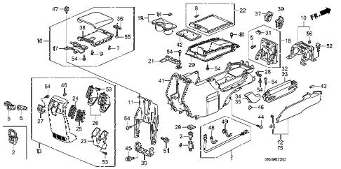 Honda online store : 2008 pilot console parts