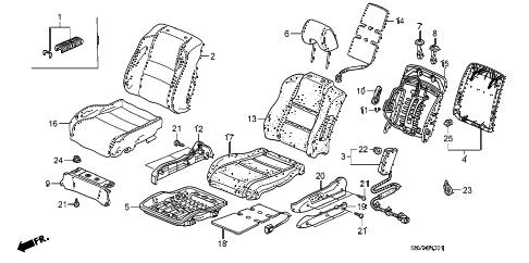 Honda online store : 2008 pilot front seat (l.) (power) parts