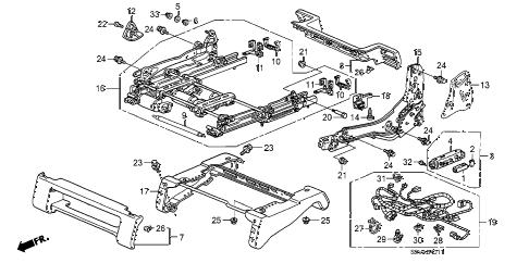 Honda online store : 2008 pilot front seat components (l
