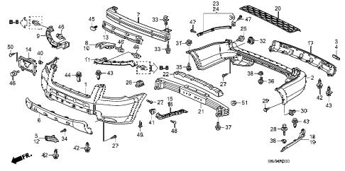 Honda online store : 2008 pilot bumpers parts