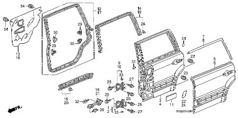 Honda online store : 2008 pilot rear door panels parts