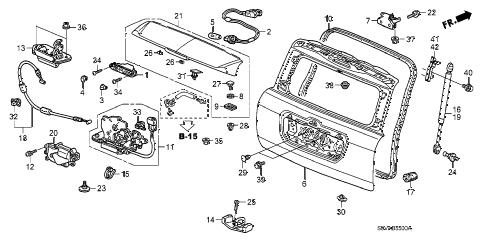 Honda online store : 2008 pilot tailgate parts