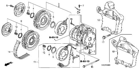 Honda online store : 2008 pilot a/c compressor parts