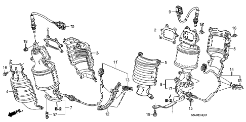 Honda online store : 2008 pilot converter parts