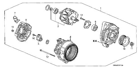 Honda online store : 2008 pilot alternator (denso) parts