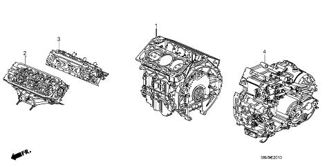 Honda online store : 2008 pilot engine assy