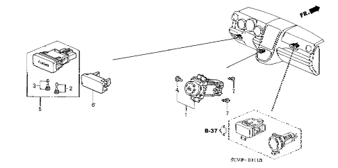 Honda online store : 2003 element switch parts