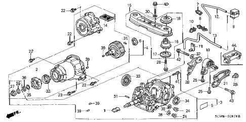 Honda online store : 2006 element rear differential
