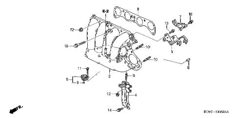 Honda online store : 2003 element intake manifold parts